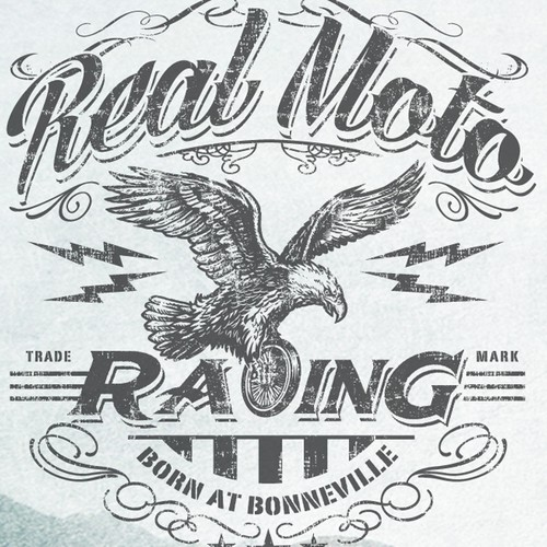 Create a T -Shirt design for Real Moto Racing - The #1 Moto Lifestyle Brand