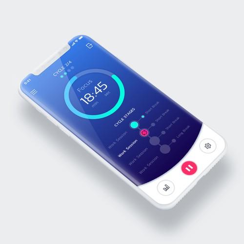 UI design for Pomodoro app