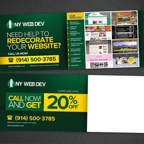 Create a Postcard for Website Design Company