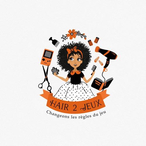 Logo for kids hair salon