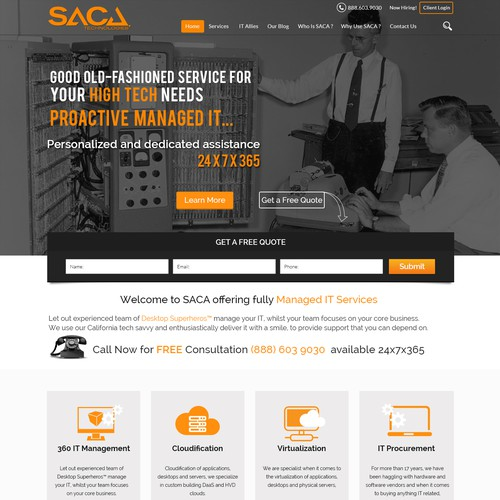 Old School Technology Imagery & Website for High Tech