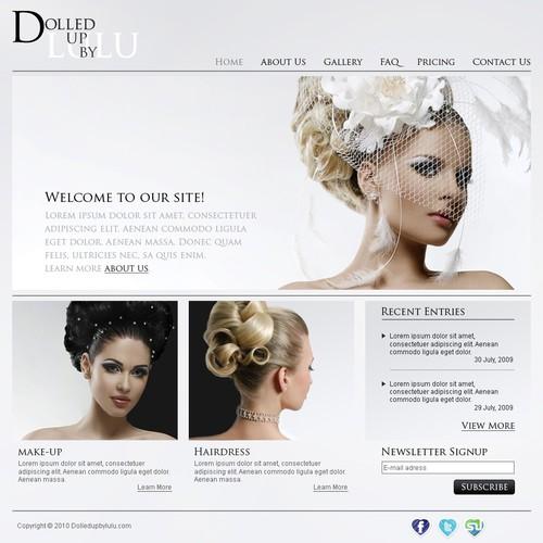 Freelance Make up artist & hair stylist website design