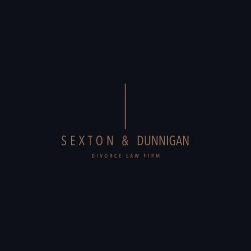 SEXTON & DUNNIGAN Divorce Law Firm Logo Design