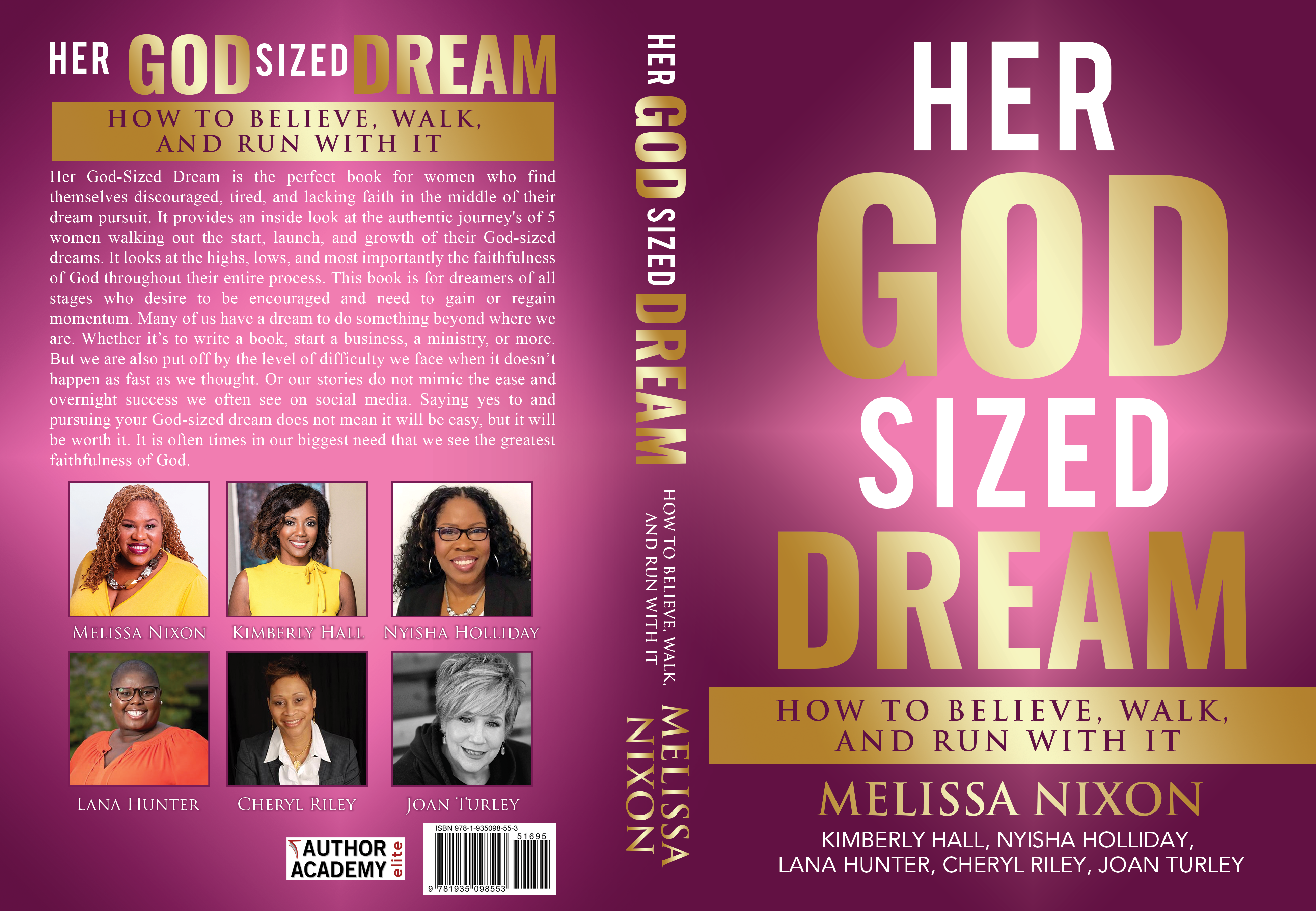 Design a powerful book cover for women with a potential for other paid follow-up projects