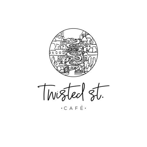 Twisted St Cafe - Logo Design