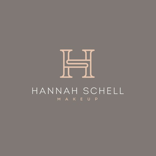 Luxury Logo for Makeup Artist HS