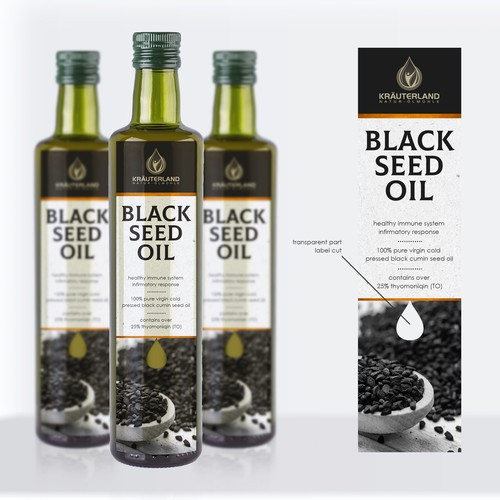 Label design for the Black Seed Oil