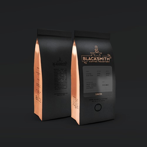 Minimalist, Bold Packaging for Blacksmith Coffee Roasters