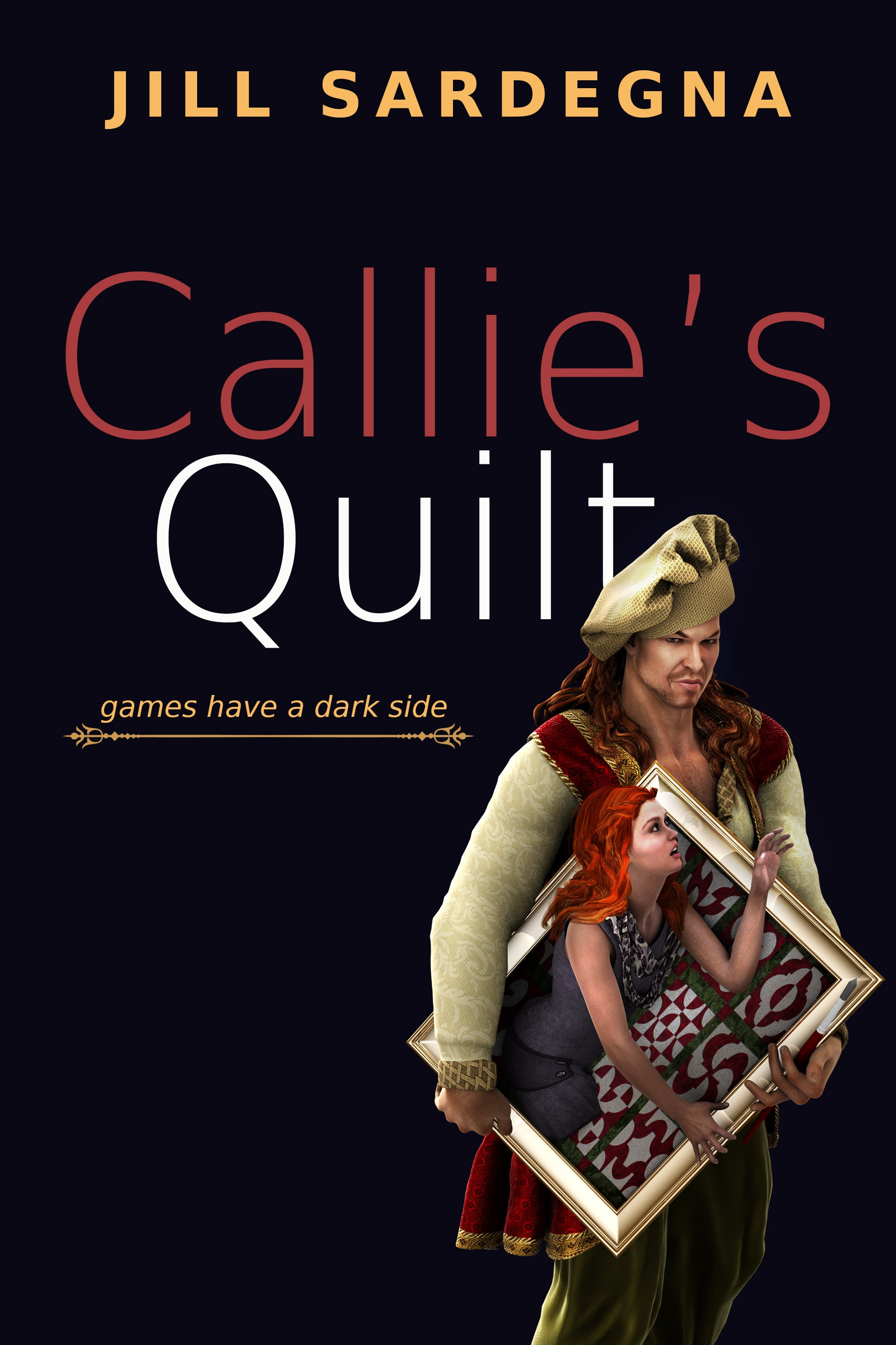 Create a Kindle book cover for YA/fantasy novel, Callie's Quilt