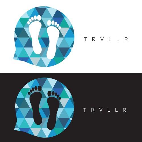 Trvllr Logo Design