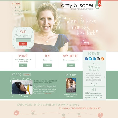 Website redesign for a not-so-average therapist (I need you to make this awesome!)