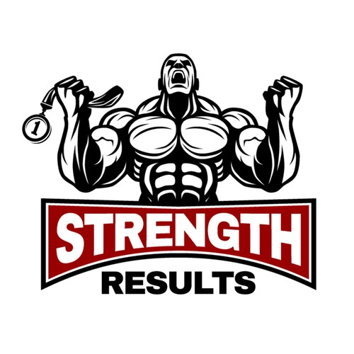 Powerful Logo for Strength Results