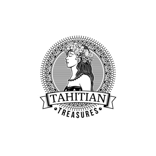Tahitian Treasures logo design