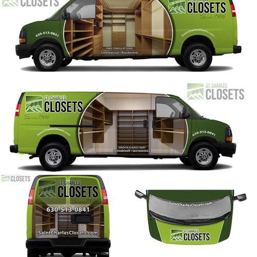 Closet Company Van Wrap