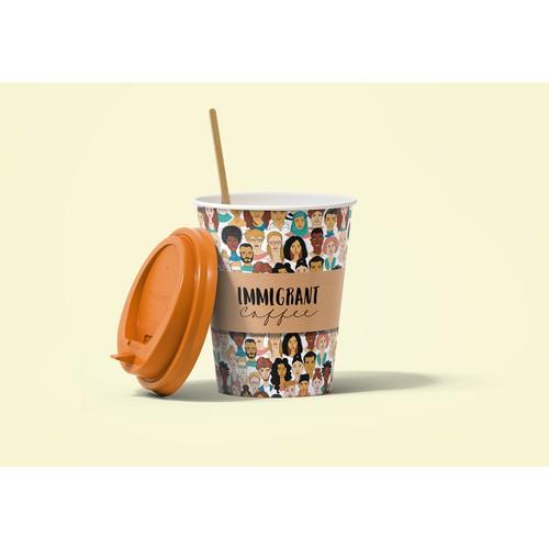 移民咖啡的咖啡杯设计