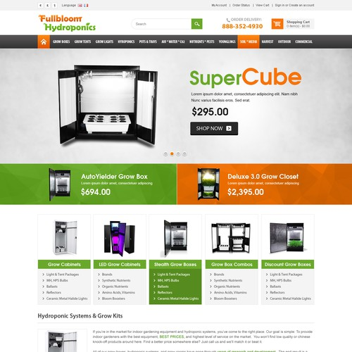 Clean Ecommerce Design - Simple 2 page layout