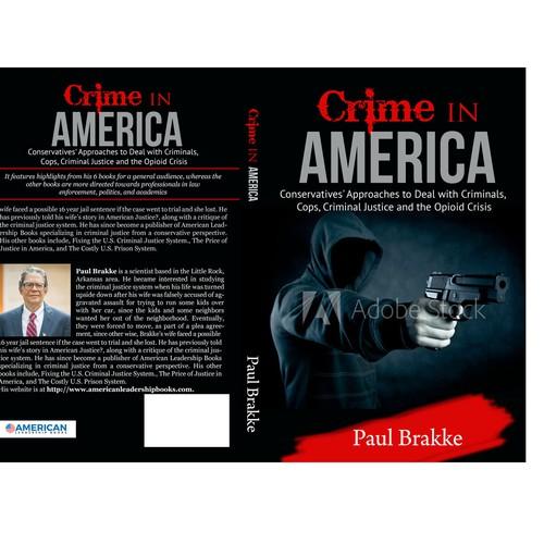 Book cover design for crime