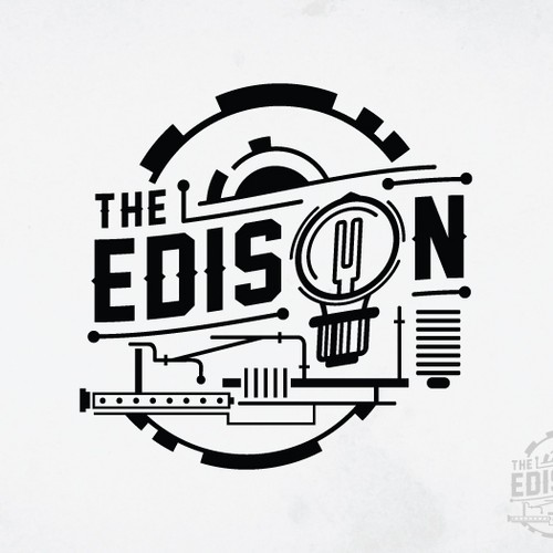 The Edison - 1920's Americana Meets the Great Gatsby - New Restaurant Seeking Logo