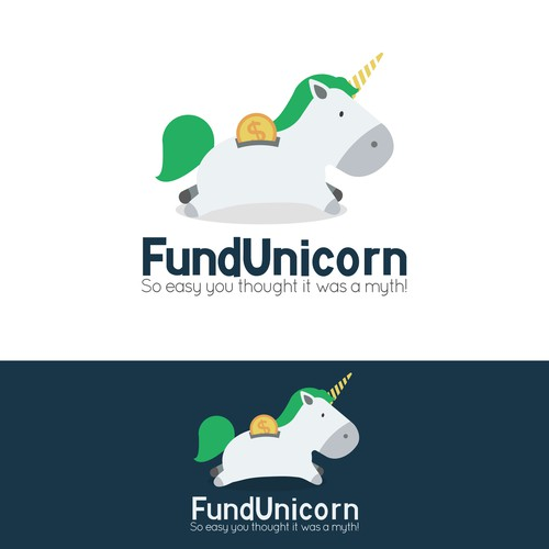 Fun Unicorn Logo design