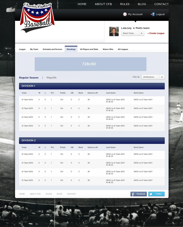 Classic Fantasy Baseball needs a new website design