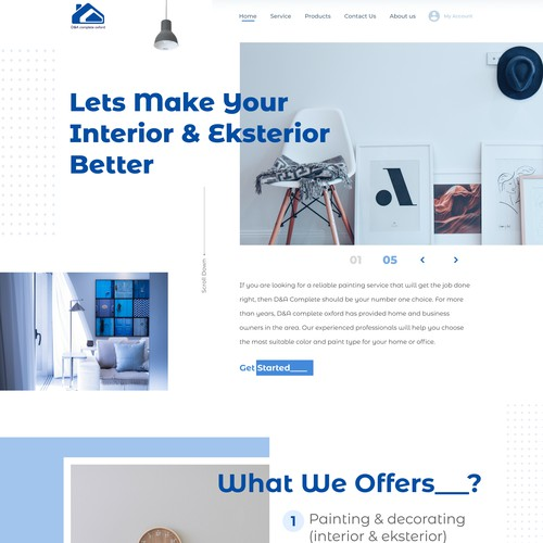 Interior Projects Website