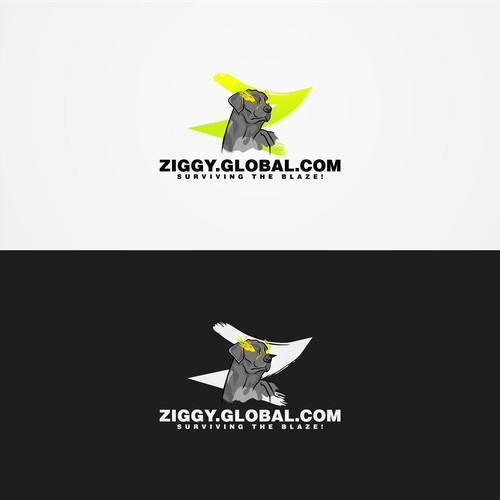 Character logo design for ZIGGY. GLOBAL. COM