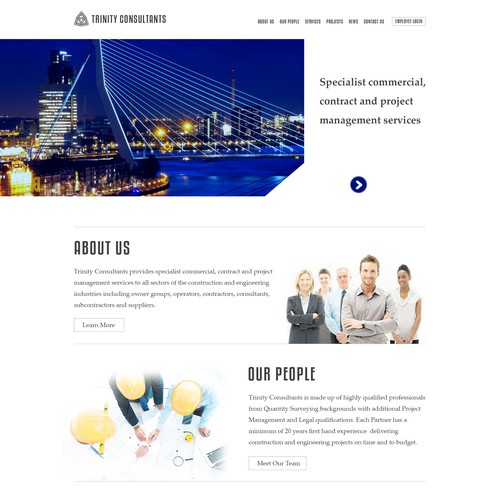 fresh contemporary yet professional website for boutigue consultancy