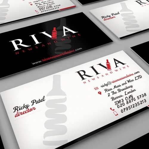 Riva News and Wine needs a new stationery