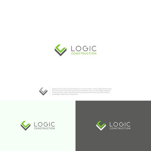 Logic Construction Logo Design