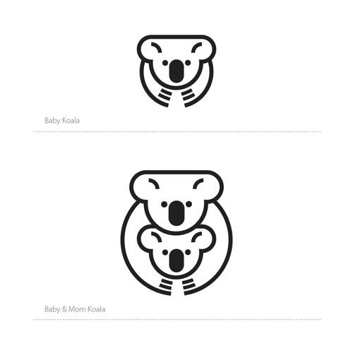 Cute Koala Illustration for Logo