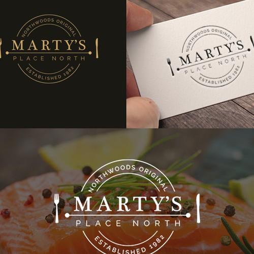 Logo design Marty's restaurant
