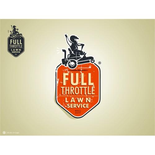 Full Throttle Lawn Service Logo