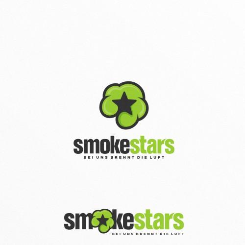 Bold and Fun Logo Concept for smokestars.de