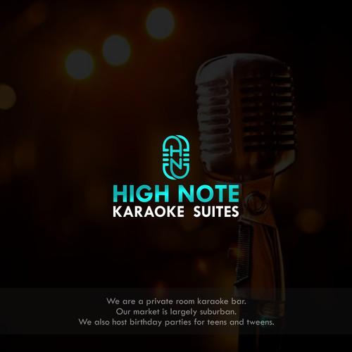 design logo for high note karaoke suites