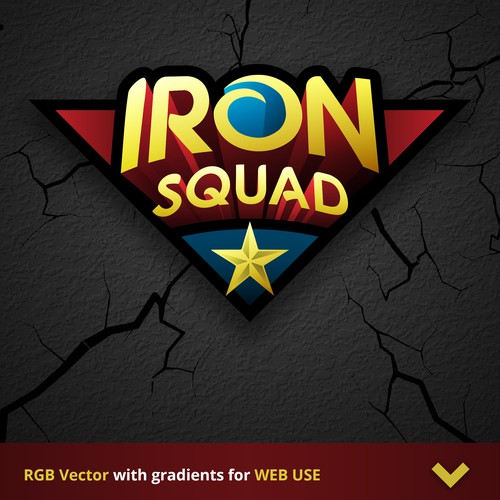 SUPERHERO LOGO for IronSquad - 1st version