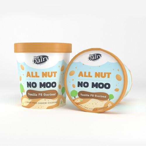 Label for dairy-free icecream