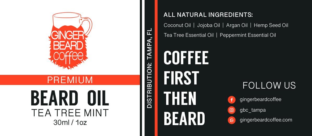 Quick Beard Oil Label