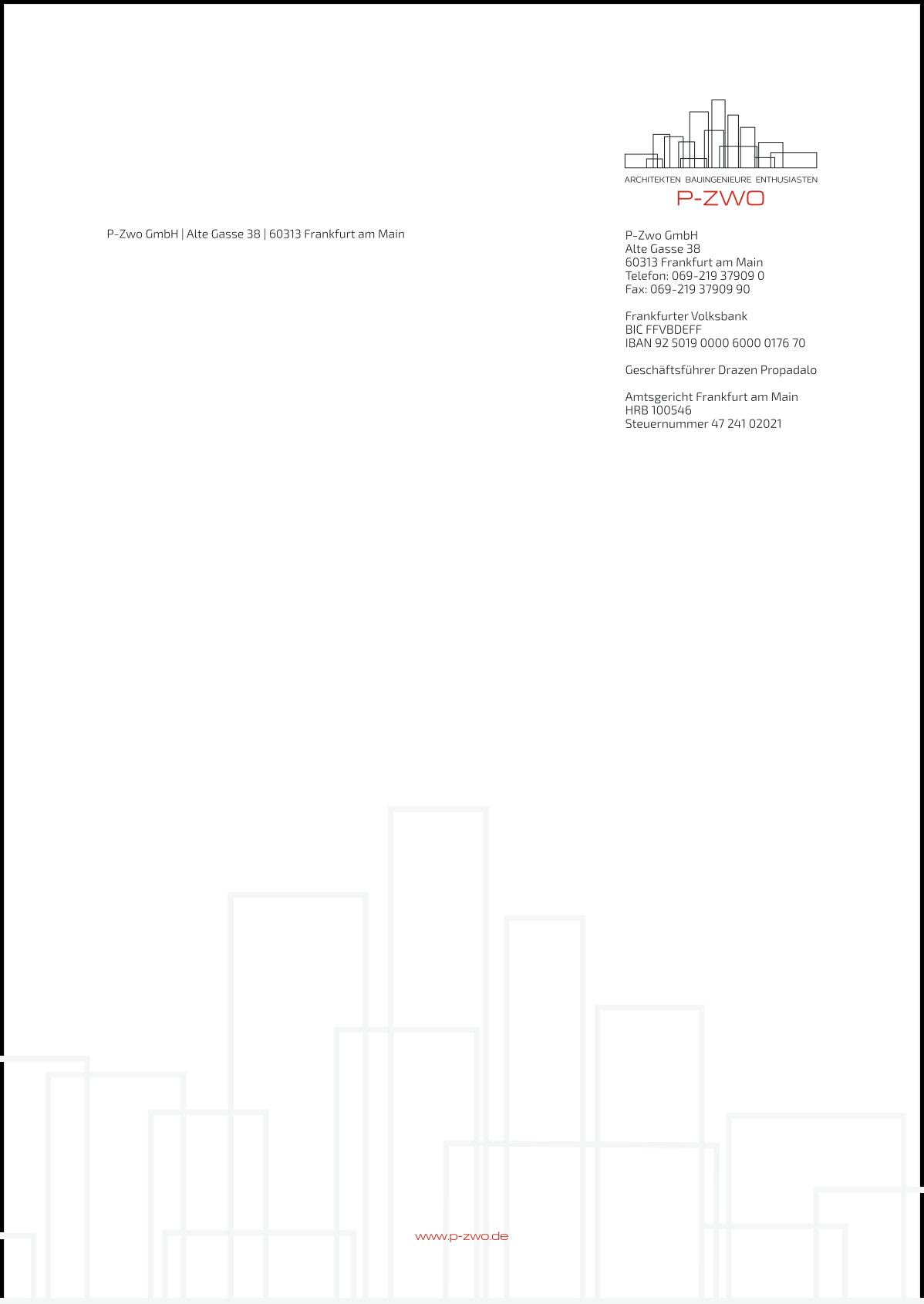 Letterhead design for P-ZWO