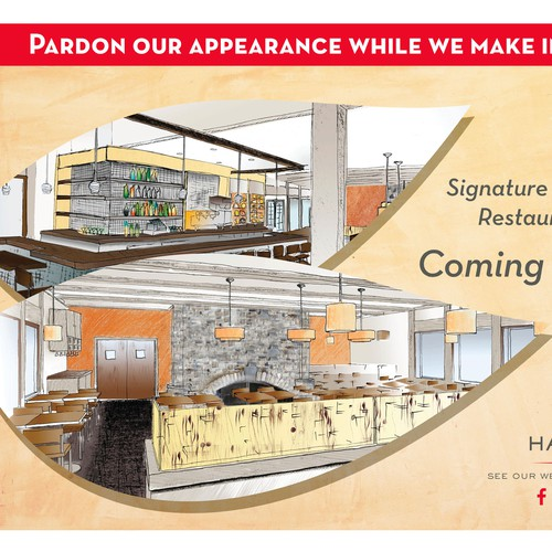 Harvest Inn Renovation Signage