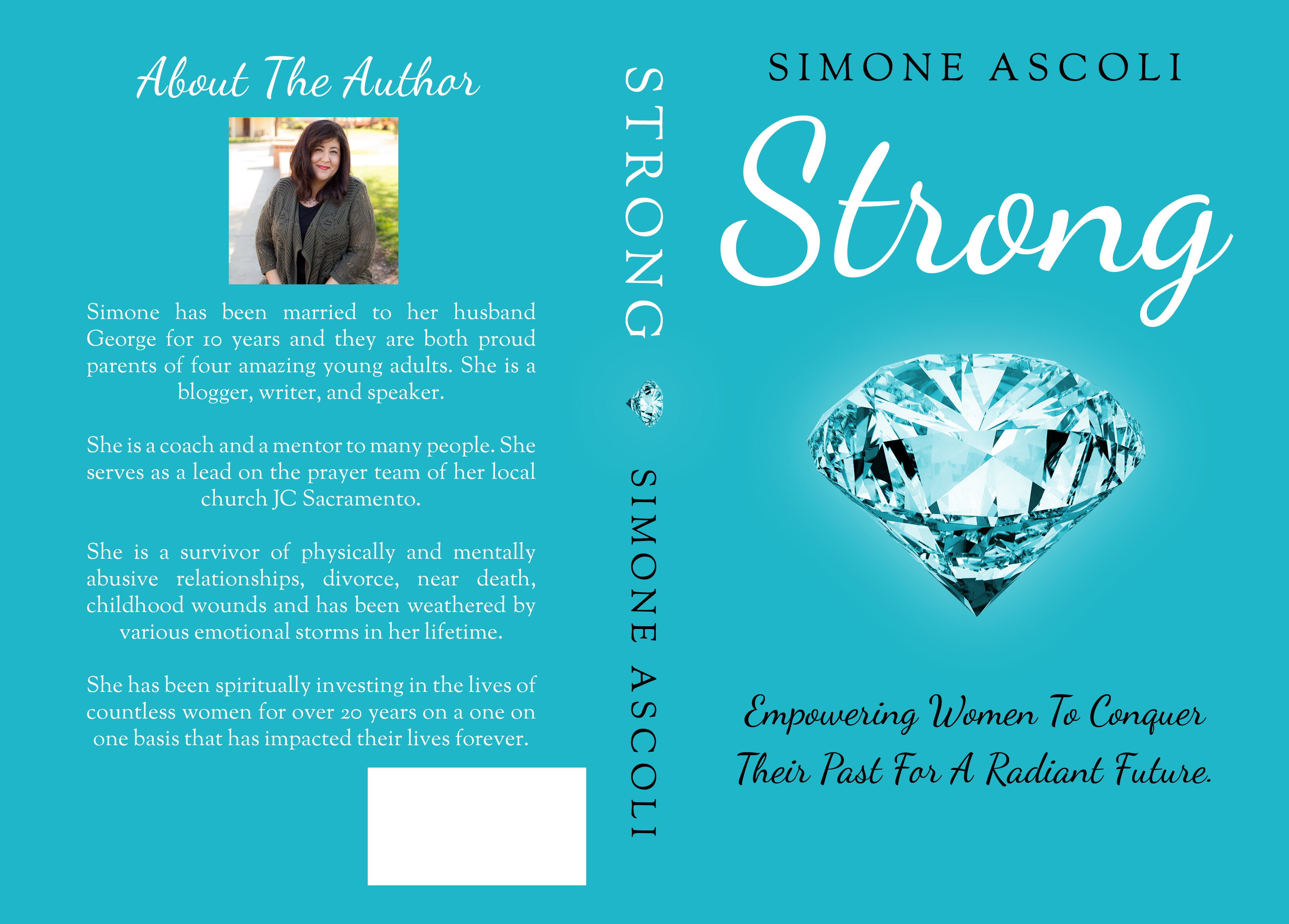 Create an empowering and simple elegant cover for a women's book about emotional wholeness!