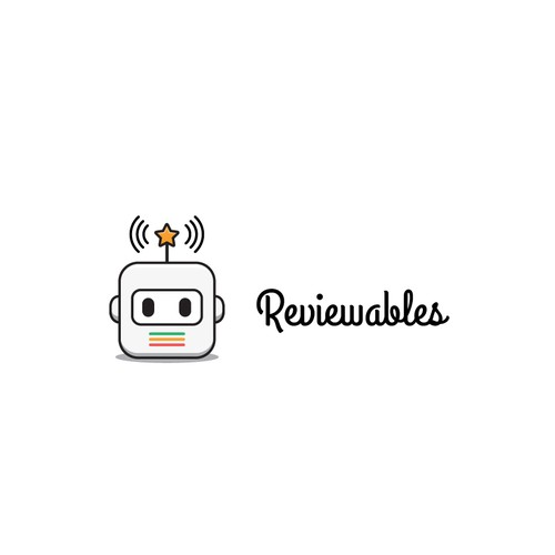 Fun logo for an app that aggregates app reviews