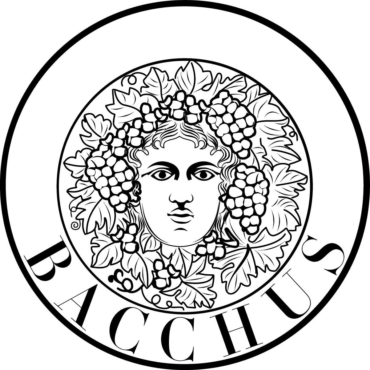 New Bacchus Logo (White on Black)