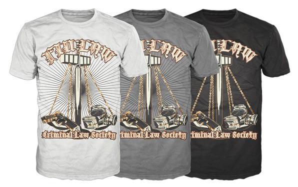 Criminal Law Society needs a sick design!!! Bullets and Drug Money!