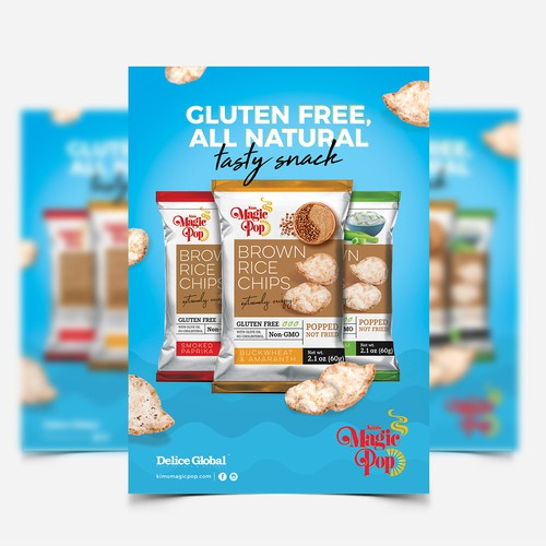 Design a Snack Flyer (Healthy Grain Snack)