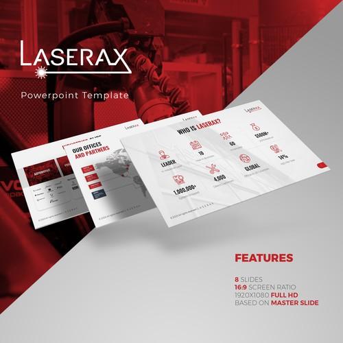 Laserax Powerpoint Template Design