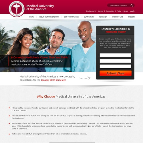 Landing Page for Medical School Applicants