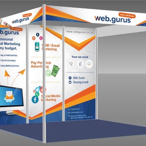 Web Gurus Booth Design