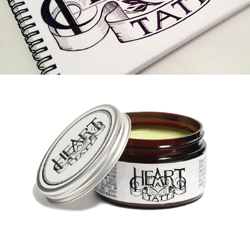 Create a logo for an tattoo salve made by a 40 year old family herbal company.