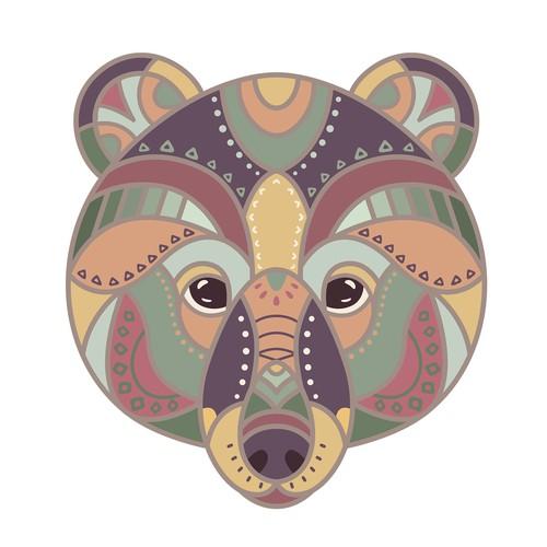 Colorful bear t-shirt design