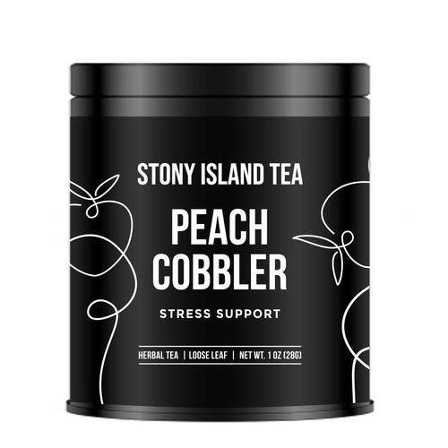 Minimalist Label Design for Tea
